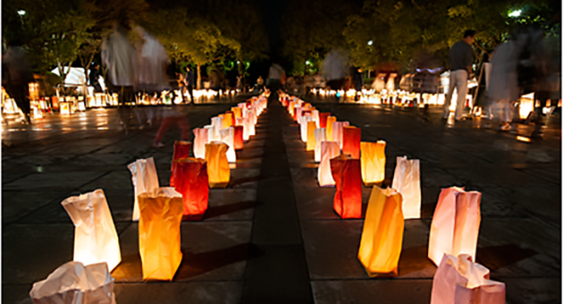 数千個の光が灯る幻想的なお祭り